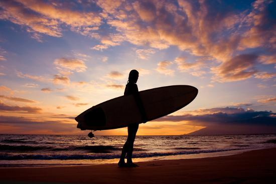 Sunset Surfer-The Sweets-Photographic Print