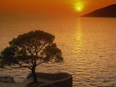 Sunset, Sveta Nedelja, Hvar Island, Croatia, Europe-Ken Gillham-Photographic Print
