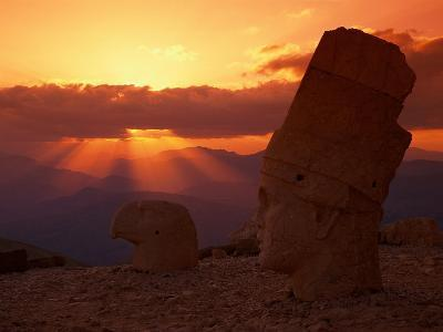 Sunset, Temple of King Antichus, Turkey-Michele Burgess-Photographic Print
