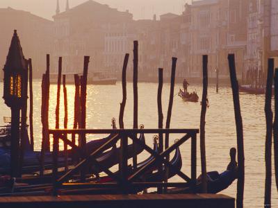 Sunset, the Grand Canal Near the Rialto Bridge, Venice, Veneto, Italy-J P De Manne-Photographic Print