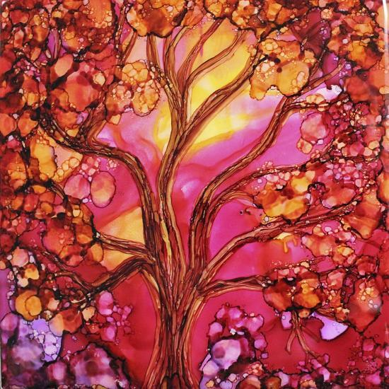 Sunset Tree-Michelle McCullough-Giclee Print