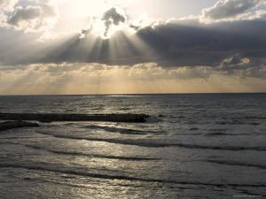 Sunset View Over Mediterranean, Tel Aviv, Israel