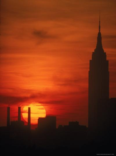 Sunset View with the Empire State Building-Alfred Eisenstaedt-Photographic Print