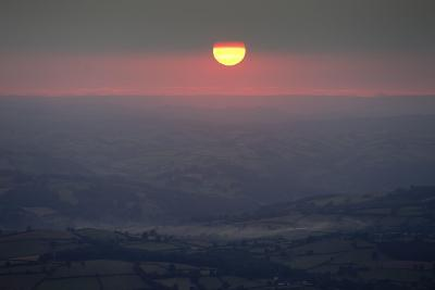 Sunset Wales 1-Charles Bowman-Photographic Print