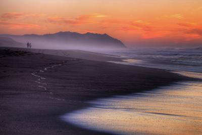 Sunset Walk, Point Reyes National Seashore, Northern California-Vincent James-Photographic Print