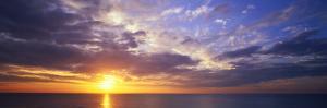 Sunset, Water, Ocean, Caribbean Island, Grand Cayman Island