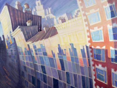 Sunset, Waverly Place, New York City, 1995-Charlotte Johnson Wahl-Giclee Print