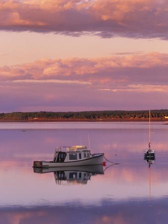 Sunset West River Causeway, West River, Prince Edward Island, Canada-Barrett & Mackay-Photographic Print