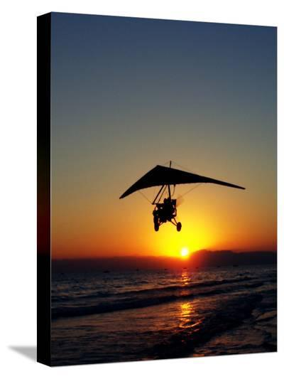Sunset With Flying Style-Wonderful Dream-Stretched Canvas Print