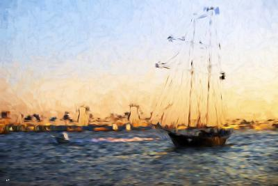 Sunset Yacht - In the Style of Oil Painting-Philippe Hugonnard-Giclee Print