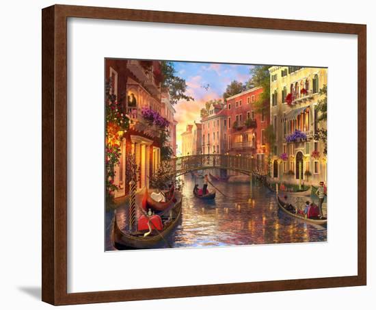 Sunsetinvenice-Dominic Davison-Framed Art Print