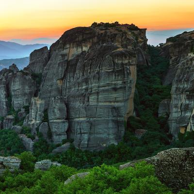 Sunsets over the Sandstone Pillars of Meteora-Babak Tafreshi-Photographic Print