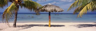 Sunshade on the Beach, La Boca, Cuba--Photographic Print
