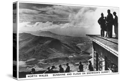 Sunshine and Clouds on Snowdon's Summit, North Wales, 1936