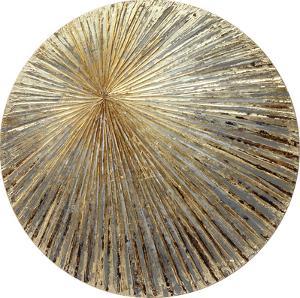 Sunshine - Circular Textured Metallic Hand Painted Wall Art
