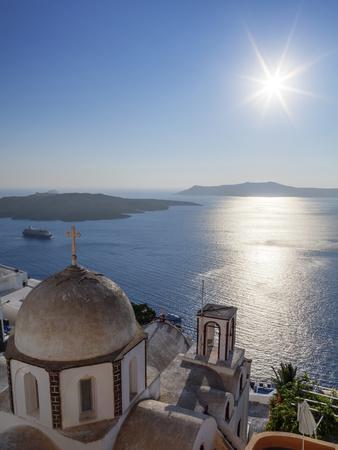 Sunshine on a Summer Day in the Mediterranean Islands of Santorini-Babak Tafreshi-Photographic Print