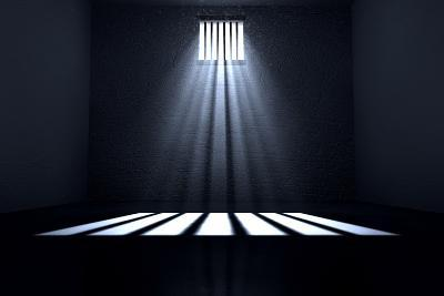 Sunshine Shining in Prison Cell Window-Inked Pixels-Photographic Print