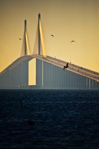 Sunshine Skyway Bridge spanning Tampa Bay, Florida, USA