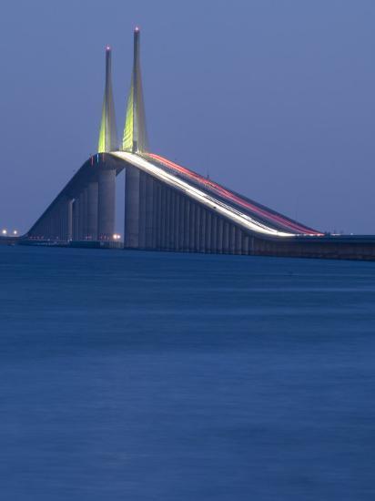 Sunshine Skyway Bridge, Tampa Bay, Saint Petersburg, Florida-John Coletti-Photographic Print
