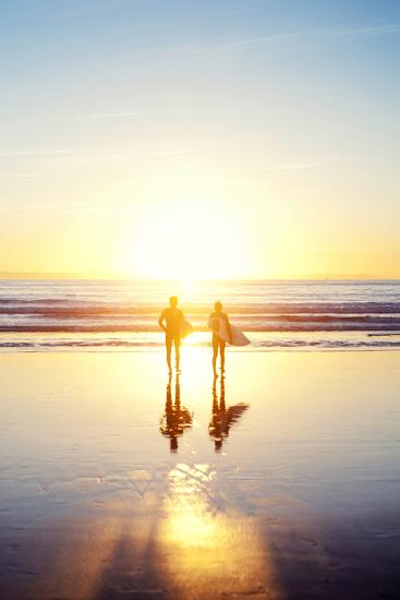Sunsoaked Surf Silhouette--Photographic Print