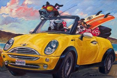 Sunup Surfdogs-Connie R. Townsend-Art Print