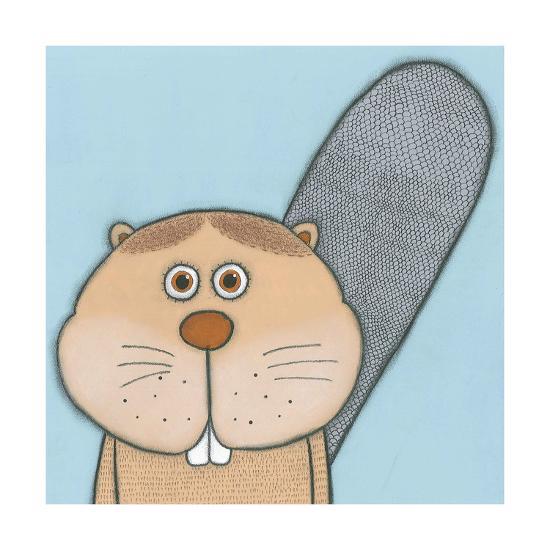 Super Animal - Beaver-Tatijana Lawrence-Art Print