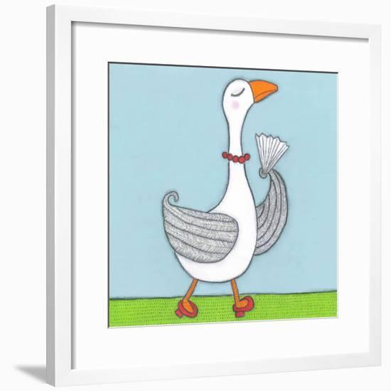 Super Animal - Goose-Tatijana Lawrence-Framed Art Print