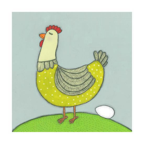 Super Animal - Hen-Tatijana Lawrence-Art Print