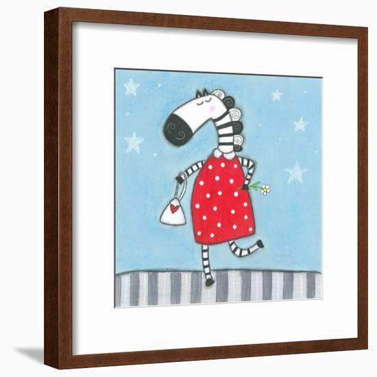 Super Animal - Zebra-Tatijana Lawrence-Framed Art Print