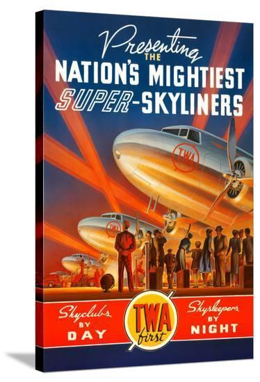 Super Skyliners-Kerne Erickson-Stretched Canvas Print
