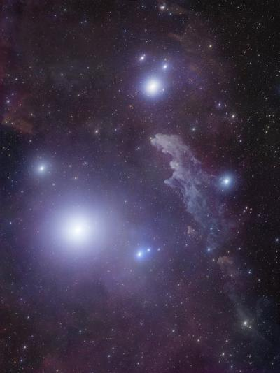 Supergiant Rigel and IC 2118 in Eridanus, Cederblad 41, the Witch Head Nebula-Stocktrek Images-Photographic Print