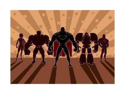 Superhero Team-Malchev-Art Print