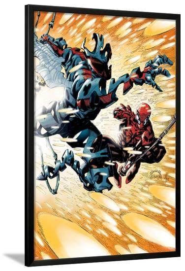 Superior Spider-Man #19 Cover: Spider-Man, Spider-Man 2099-Ryan Stegman-Lamina Framed Poster