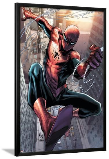 Superior Spider-Man Team-Up #12 Featuring Spider-Man-Marco Checchetto-Lamina Framed Poster