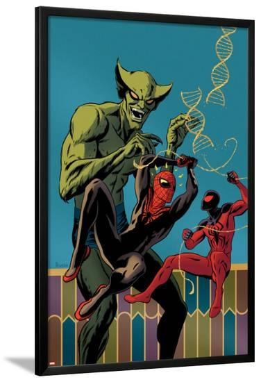 Superior Spider-Man Team-Up #2 Cover: Spider-Man, Scarlet Spider, Jackal-Paolo Rivera-Lamina Framed Poster