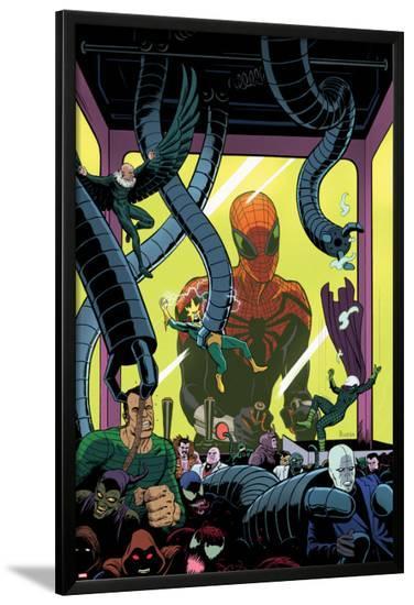 Superior Spider-Man Team-Up #5 Cover: Spider-Man, Vulture, Electro, Sandman, Green Goblin, Kingpin-Paolo Rivera-Lamina Framed Poster