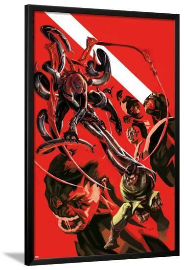 Superior Spider-Man Team-Up Special #1 Cover: Spider-Man, Doctor Octopus, Beast, Iceman, Grey, Jean-Michael Dialynas-Lamina Framed Poster