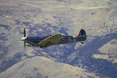 Supermarine Spitfire, British and Allied WWII War Plane, South Island, New Zealand-David Wall-Photographic Print