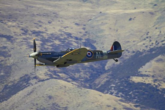 Supermarine Spitfire, British and Allied WWII War Plane, South Island, New Zealand-David Wall-Photographic Print