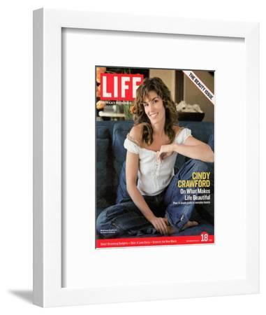 Supermodel Cindy Crawford, March 18, 2005-Andrew Southam-Framed Photographic Print
