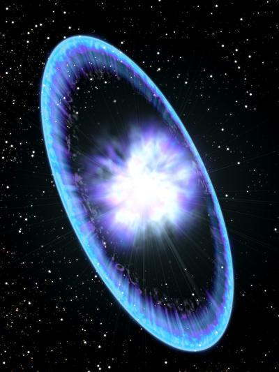 Supernova Explosion-Roger Harris-Photographic Print