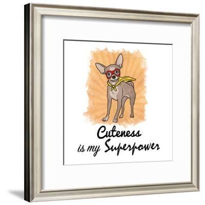 Superpowered Cuteness-Marcus Prime-Framed Art Print