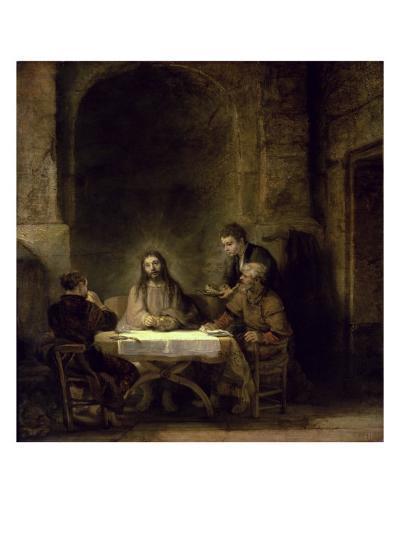 Supper at Emmaus-Rembrandt van Rijn-Giclee Print