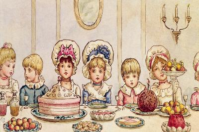 Supper, from 'Christmas in Little Peopleton Manor' in Illustrated London News, Christmas, 1879-Kate Greenaway-Giclee Print