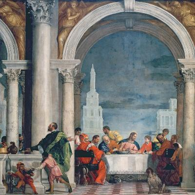 Supper in the House of Levi, 1573-Paolo Veronese-Giclee Print