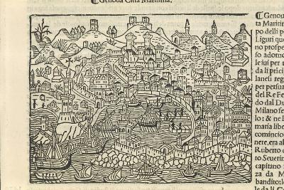 Supplementum Chronicarum, the City of Genoa, 1434-1520-Jacopo Marieschi-Giclee Print