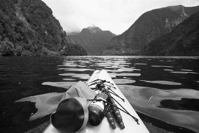 Supplies on the End of a Kayak Going Through a Fjord; Doubtful Sound South Island New Zealand-Design Pics Inc-Photographic Print