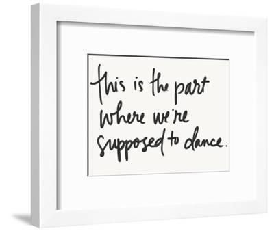 Supposed to Dance-Katie Doucette-Framed Art Print