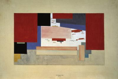 Suprematism (Sketch for a Curtain), 1919-El Lissitzky-Giclee Print