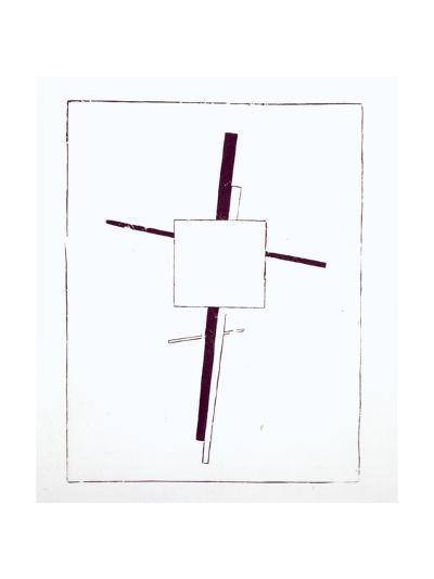 Suprematist Cross, 1920-Kasimir Malevich-Giclee Print